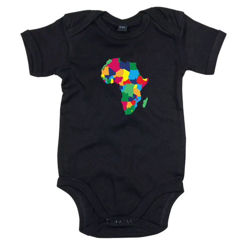 African Map Heritage Babygrow | Rainbow Africa
