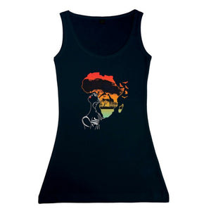 Women's Africa Sunset Vest Tank Top
