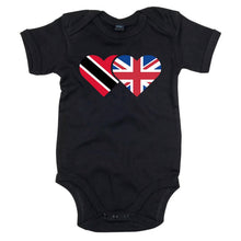Load image into Gallery viewer, rinidad and England Heart Flag Babygrow