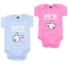 Load image into Gallery viewer, Twins Babygrow Set