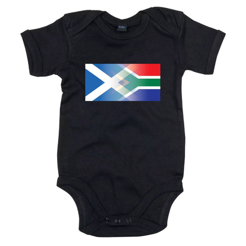 Scotland and South Africa Mixed Heritage Flag Babygrow