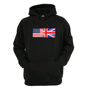 America and England Mixed Heritage Flag Hoodie