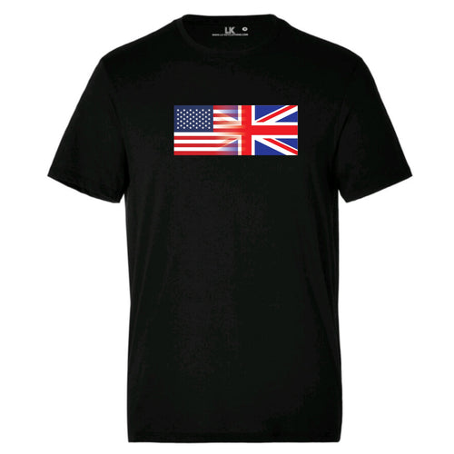 Men's America and England Mixed Heritage Flag T/Shirt