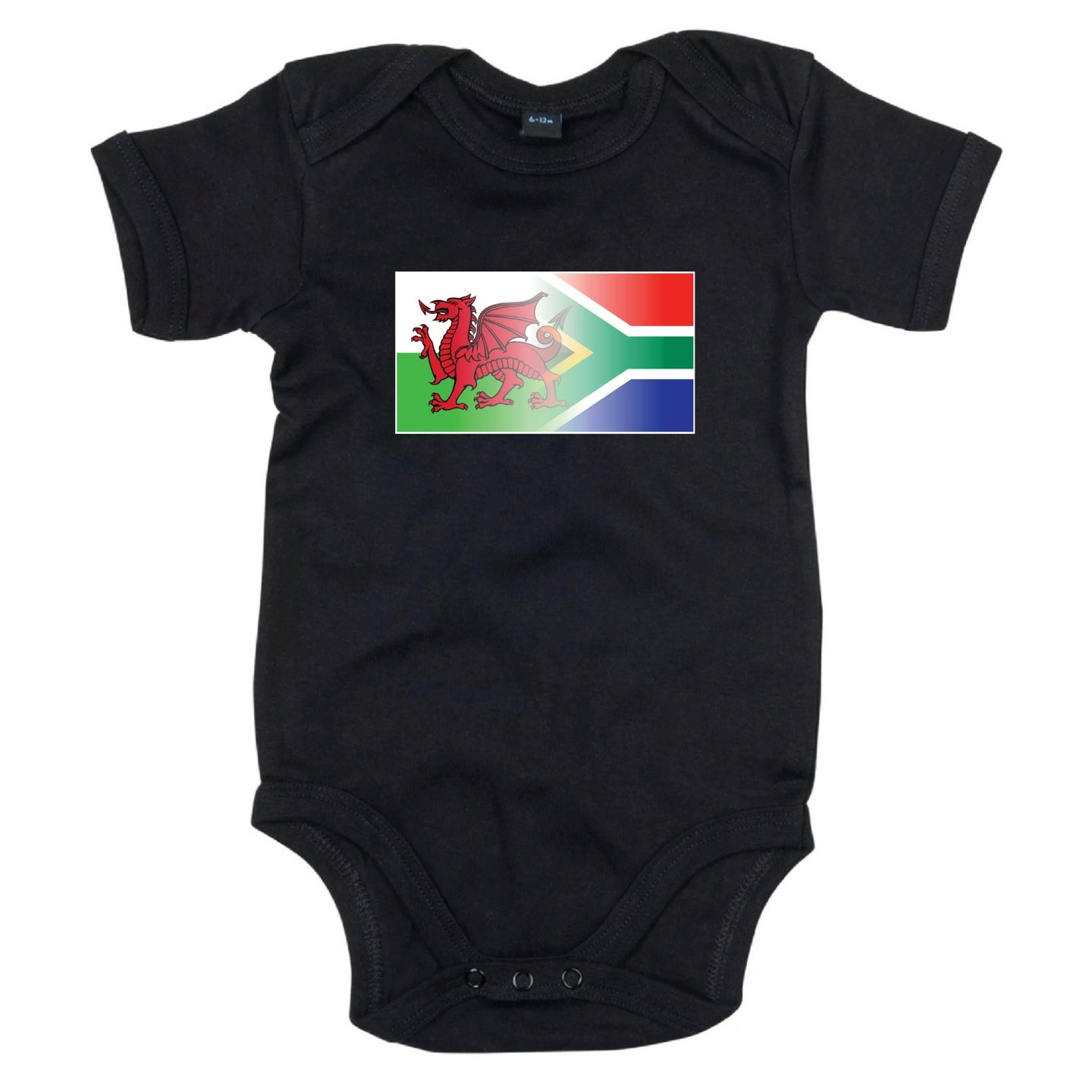 Welsh & South Africa Flag Blend Babygrow