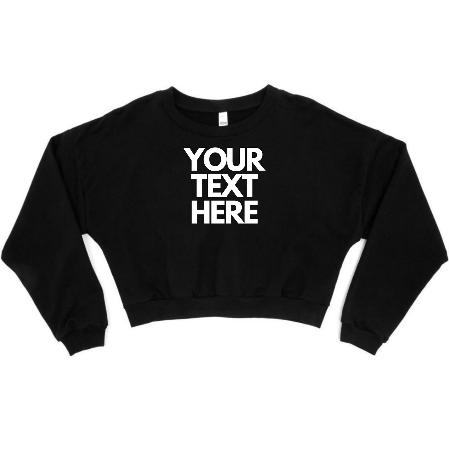 Ladies Personalised Cropped Sweater
