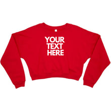 Load image into Gallery viewer, Ladies Personalised Cropped Sweater