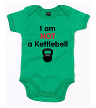 Load image into Gallery viewer, I Am Not A Kettlebell Babygrow Green