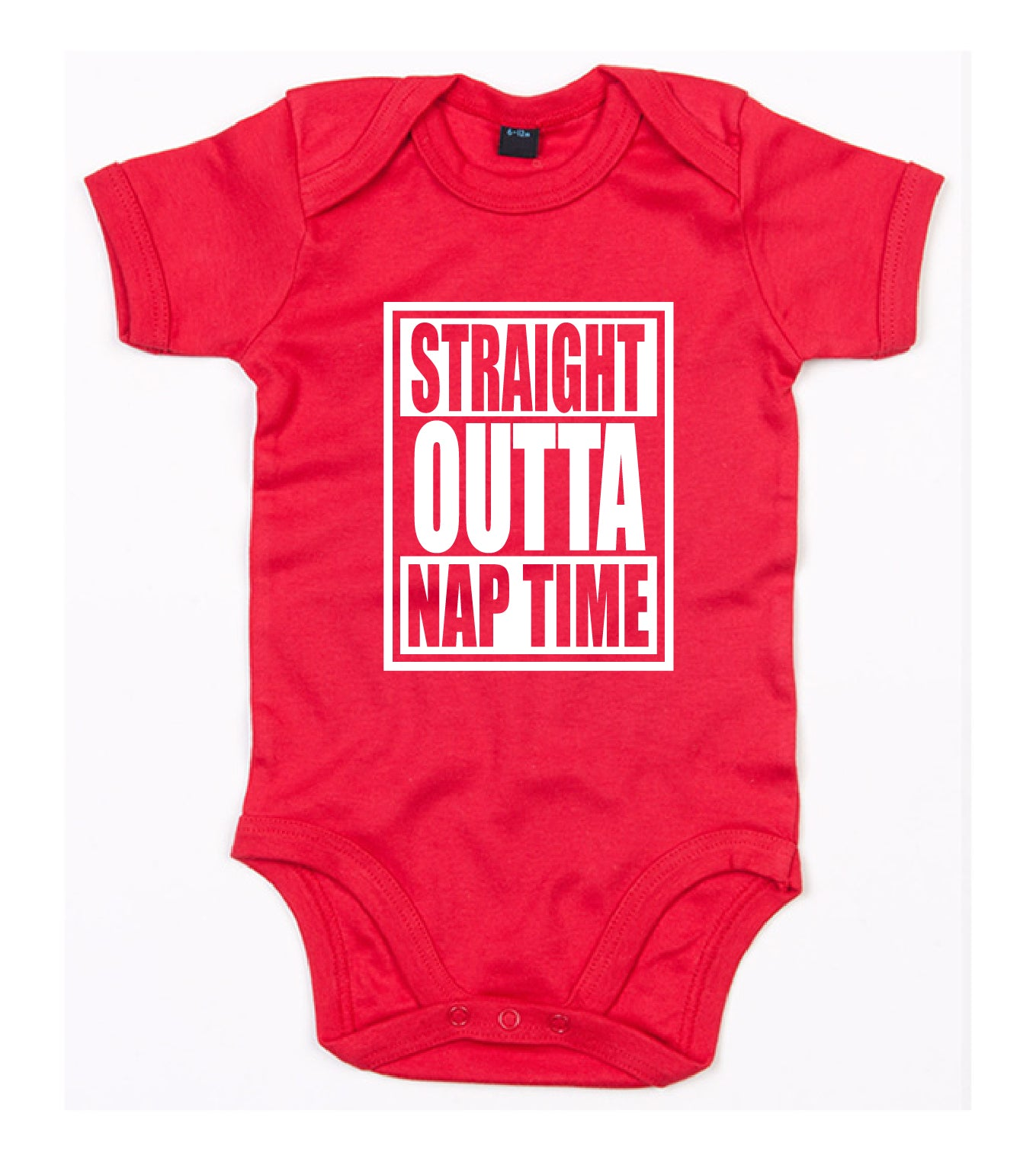 Straight Outta Nap Time Babygrow Personalise