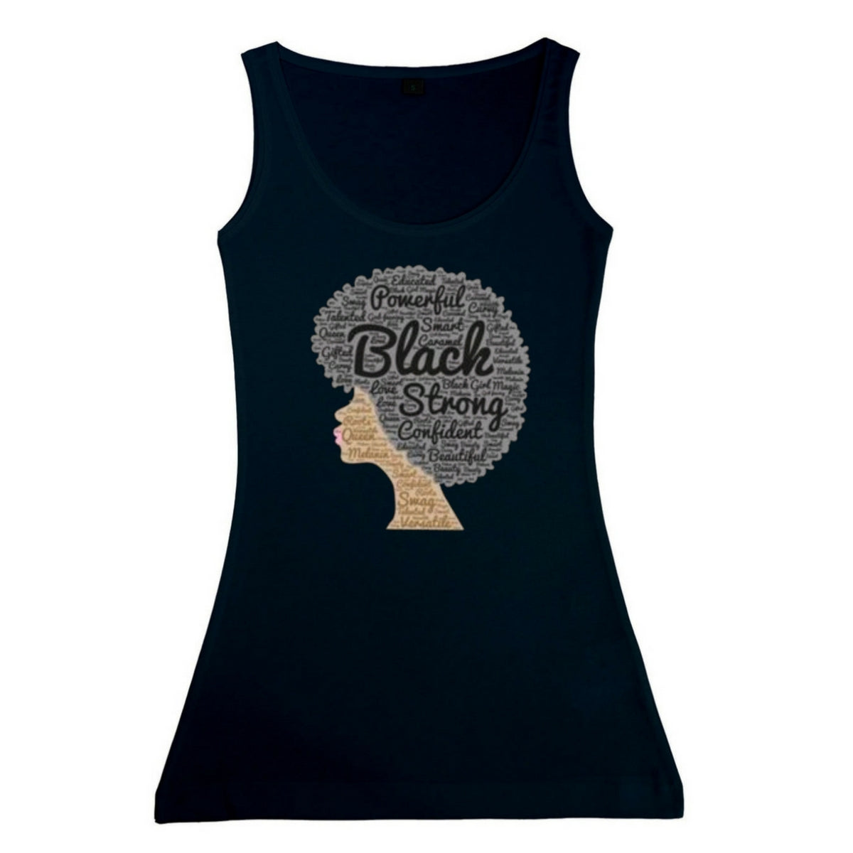 Women's Black Afro Vest Tank Top