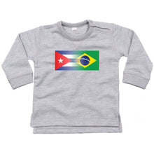 Load image into Gallery viewer, Personalise Mixed Heritage Flag Baby Jumper
