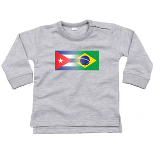 Personalise Mixed Heritage Flag Baby Jumper