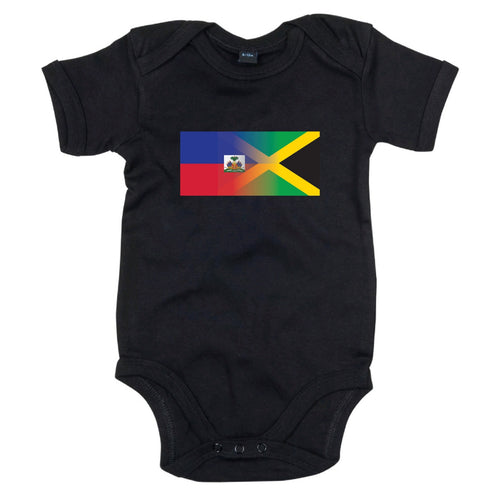 haitian and jamaica flag babygrow