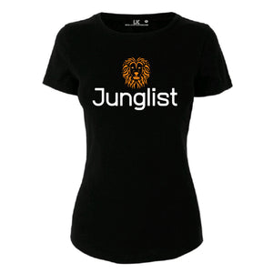 Junglist Lion Tee Ladies drum and bass jungle tee