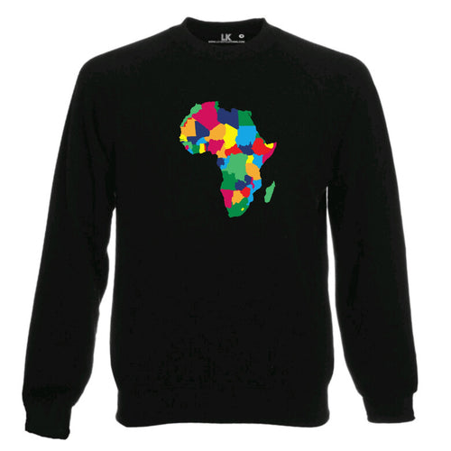 Africa Map Heritage Sweatshirt - Rainbow