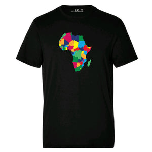 Men's Africa Map Heritage T/Shirt - Rainbow