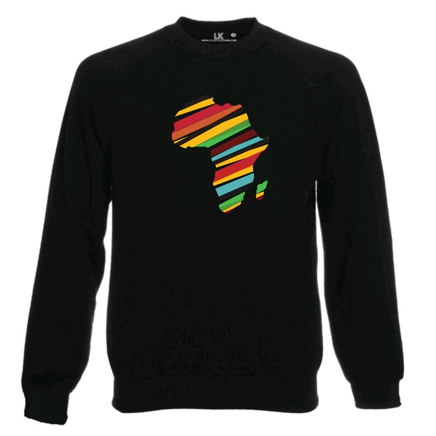 Africa Map Heritage Sweatshirt - Stripes