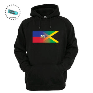 Personalised Mixed Heritage Flag Hoodie