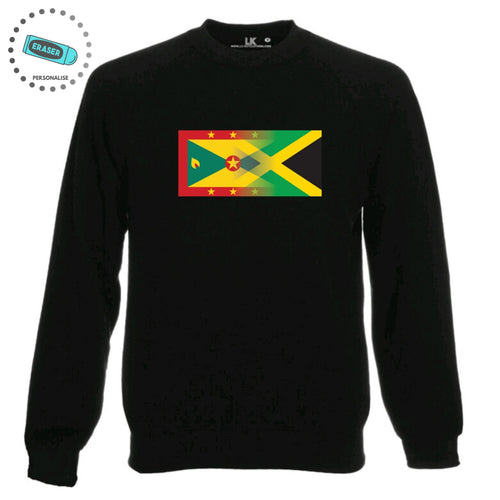 Personalise Mixed Heritage Flag Sweatshirt