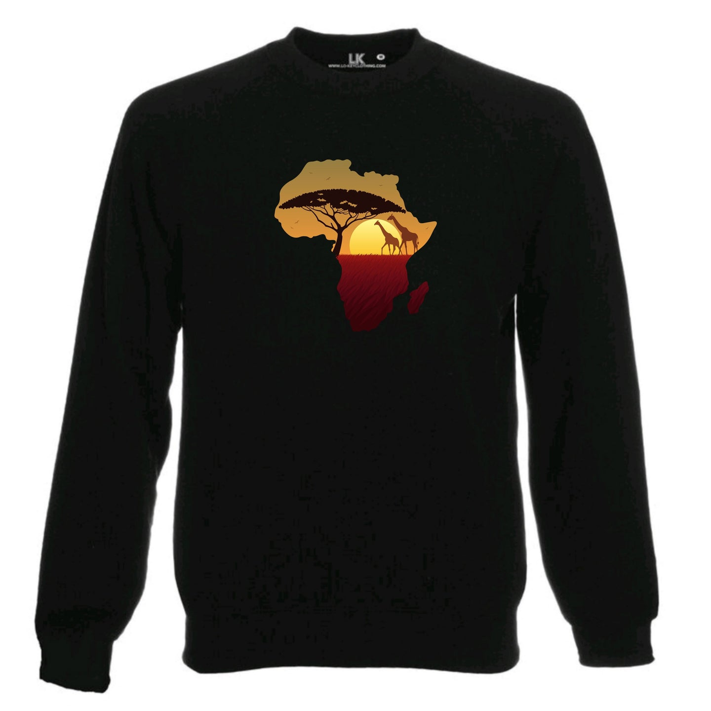Sunset Africa Map Heritage Sweatshirt