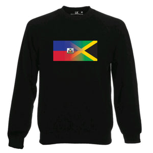 Haitian and Jamaica Flag Blend SWEATSHIRT