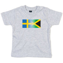 Load image into Gallery viewer, Personalise Mixed Heritage Flag Baby TShirt
