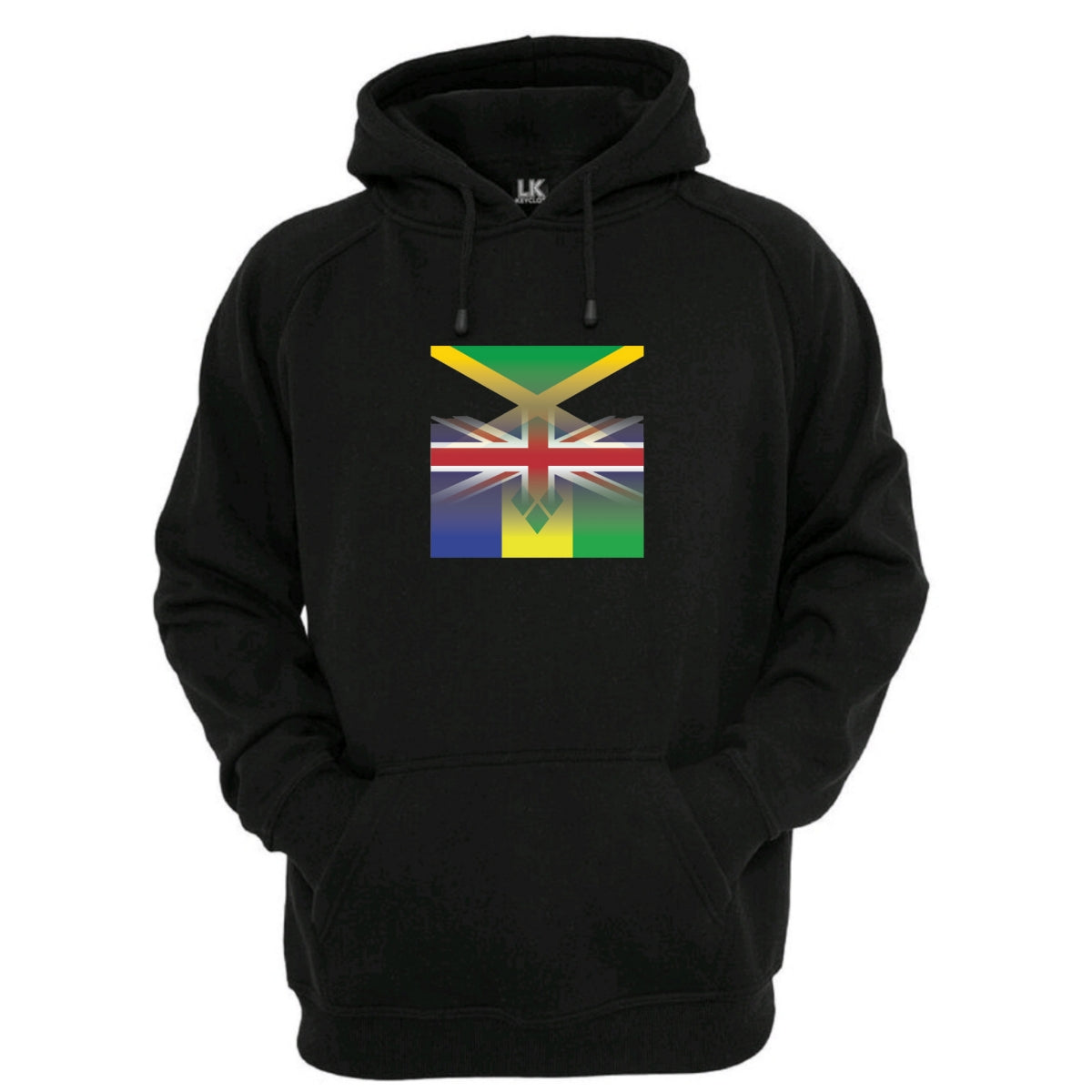 UK, Jamaican & St Vincents Flag Blended Hoodie