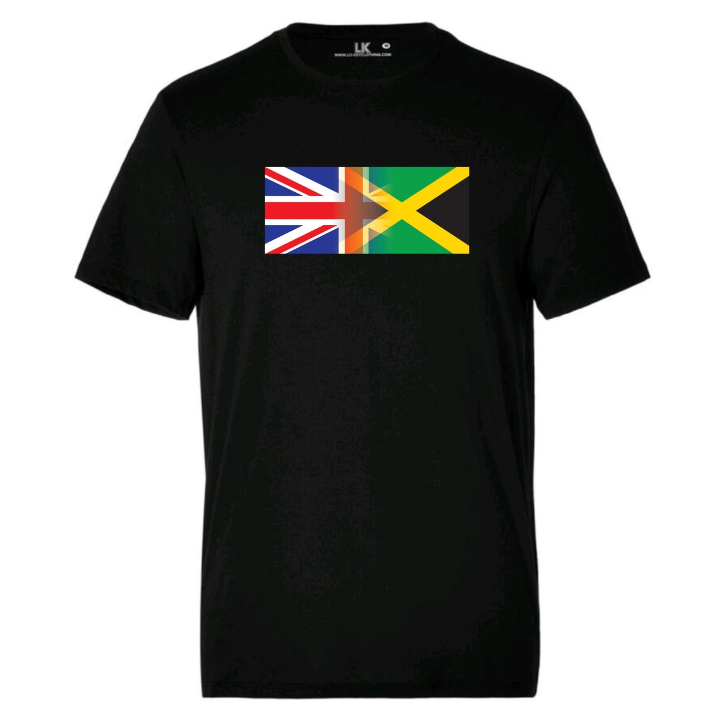 Children's England & Jamaica Mixed Heritage Flag TShirt
