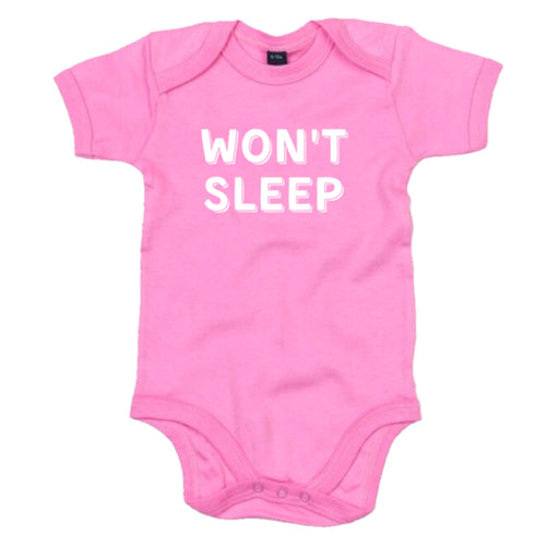 Won't Sleep Babygrow - Pink