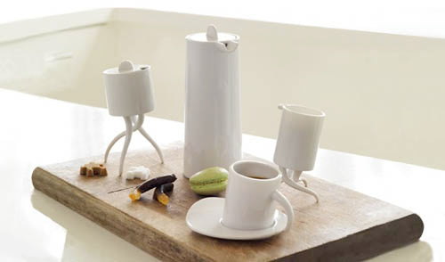 Cheska Ambula white tea and coffee set