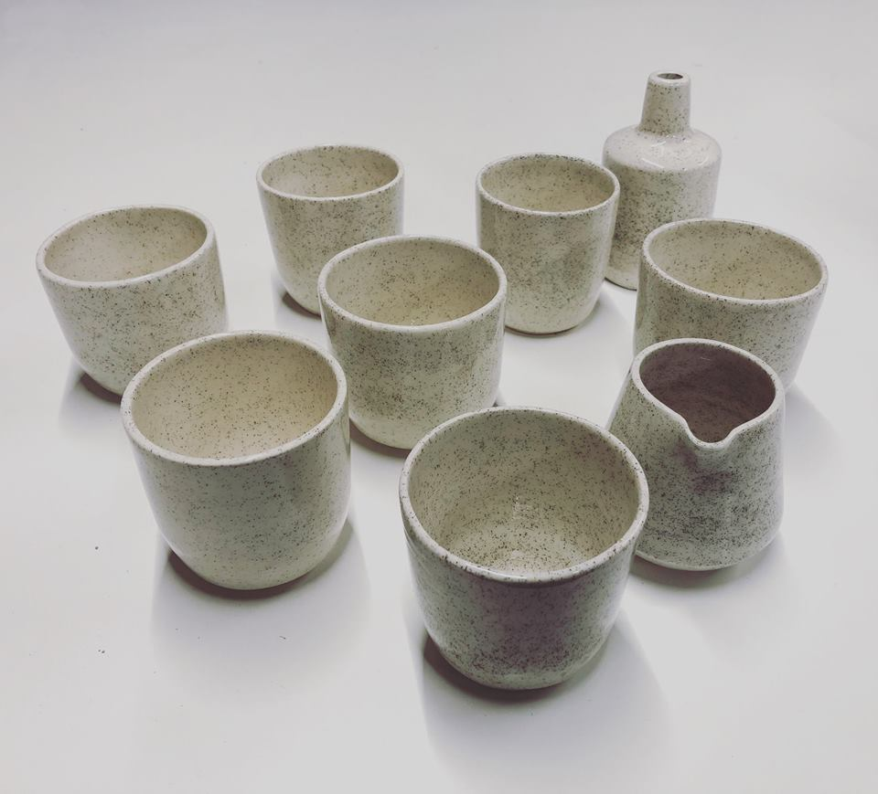 neens made this ceramic tea set new zealand made