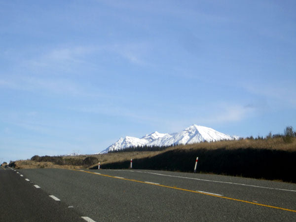 mt ruapehu peaking over hill top