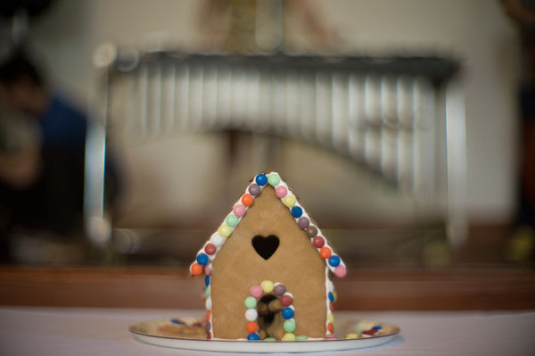 high te party ginger bread house