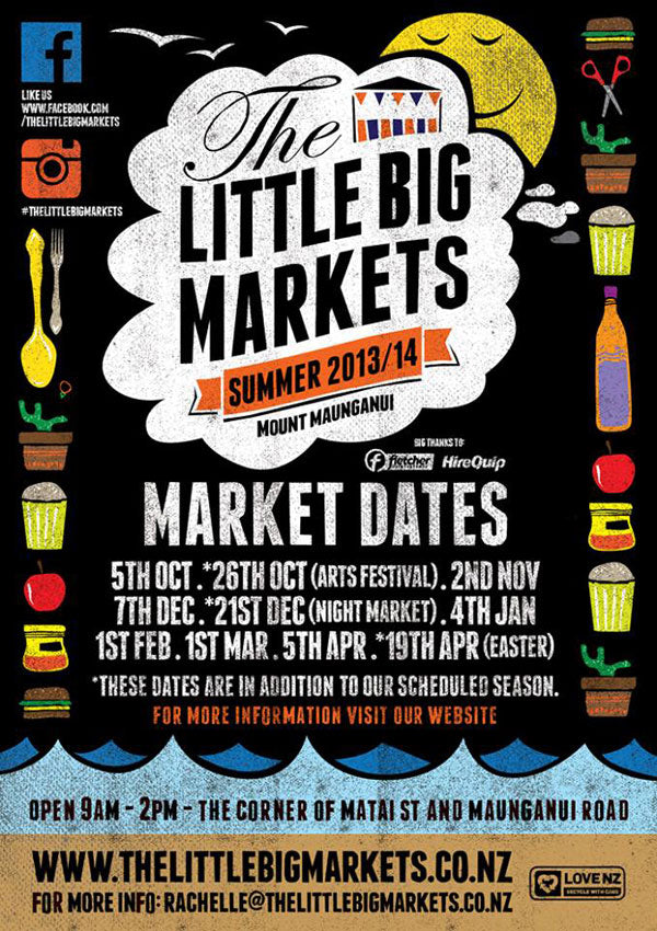 2013/14 little big markets summer poster