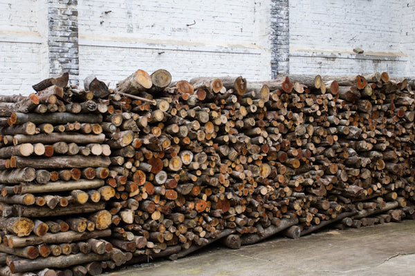 stack of wood in keemun chine