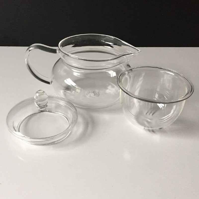 Informal tea glass tea pot