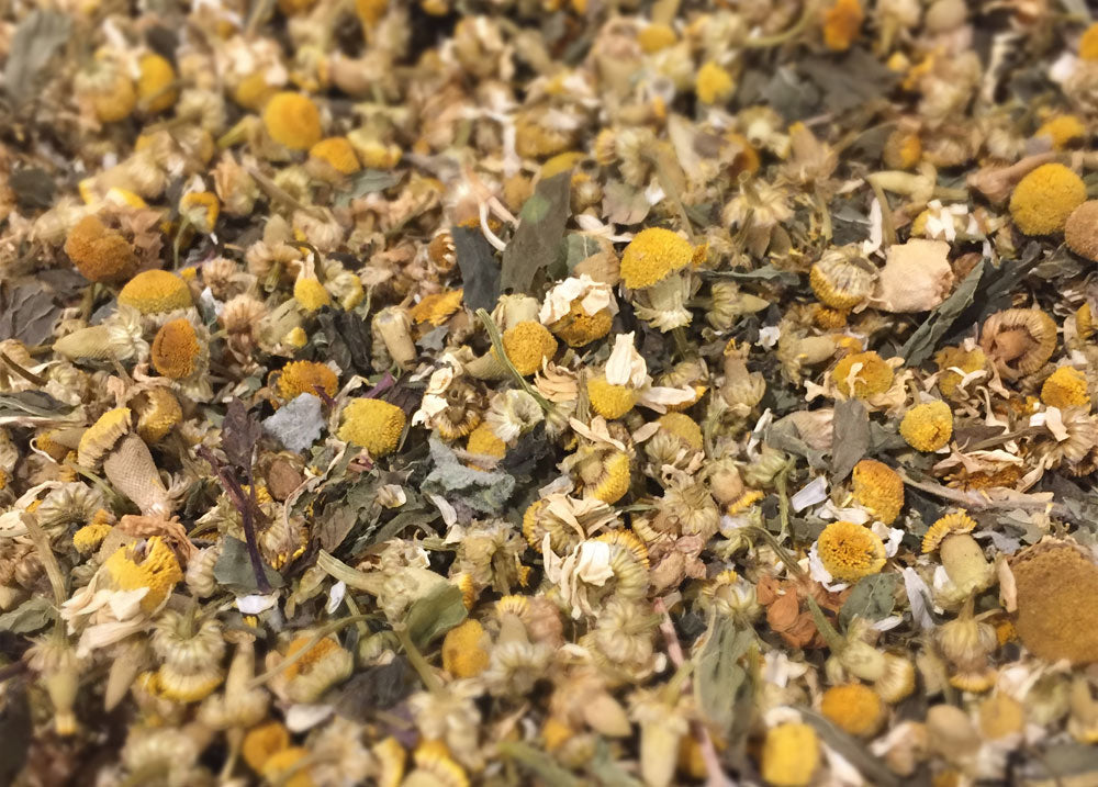 organic chamomile and mint tea informal tea