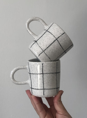 Tea Mug - Pencil Grid