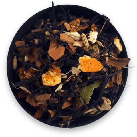 Organic Chai tea from New Zealand blended with cardamon, cinnamon, cloves, fennel, ginger, sweet cinnamon orange by Informal Tea
