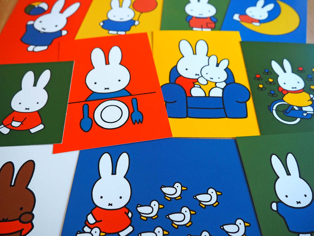 Miffy postcards with collectable designs