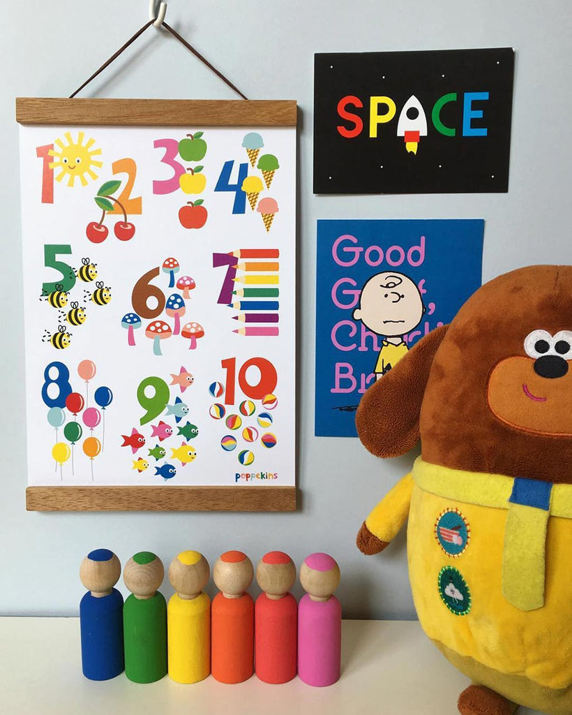 kids counting print wall art