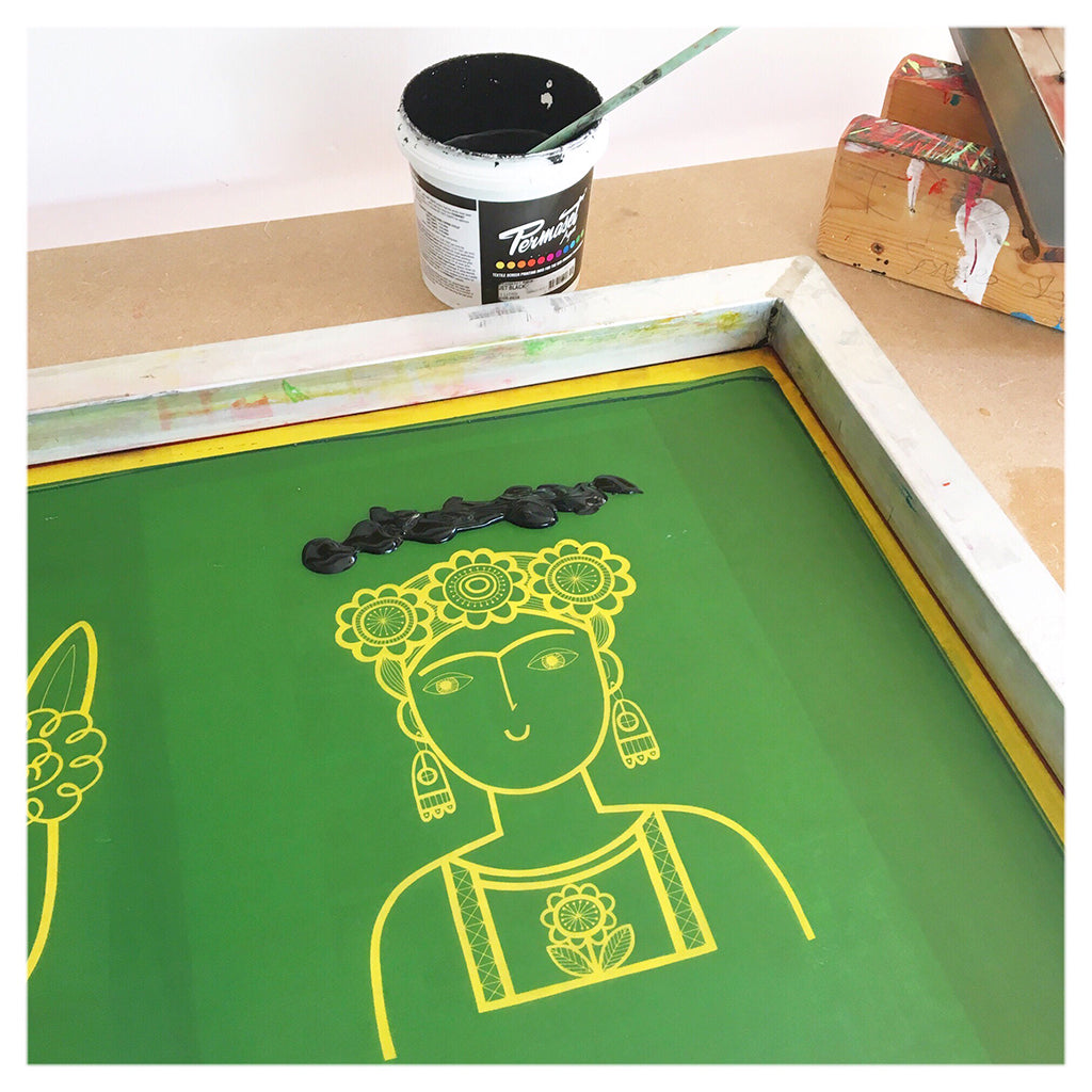 Frida Kahlo screen print by Jane Foster