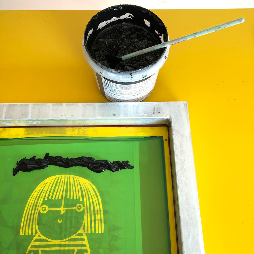 screen printing with Jane Foster