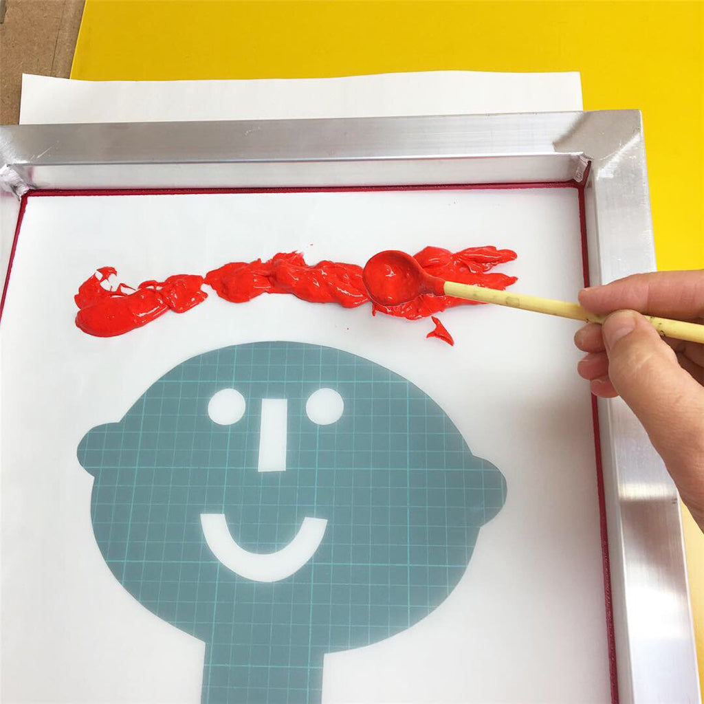 happy face screen printing with Jane Foster