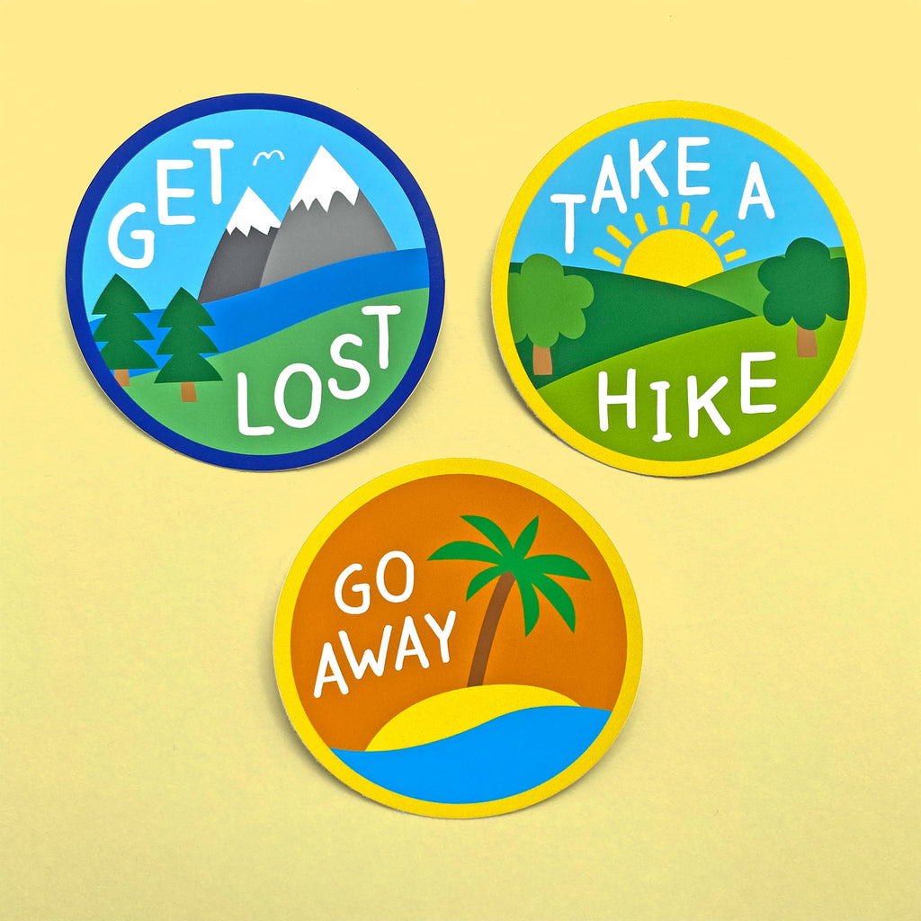 Pack of 3 - Adventure Vinyl Stickers
