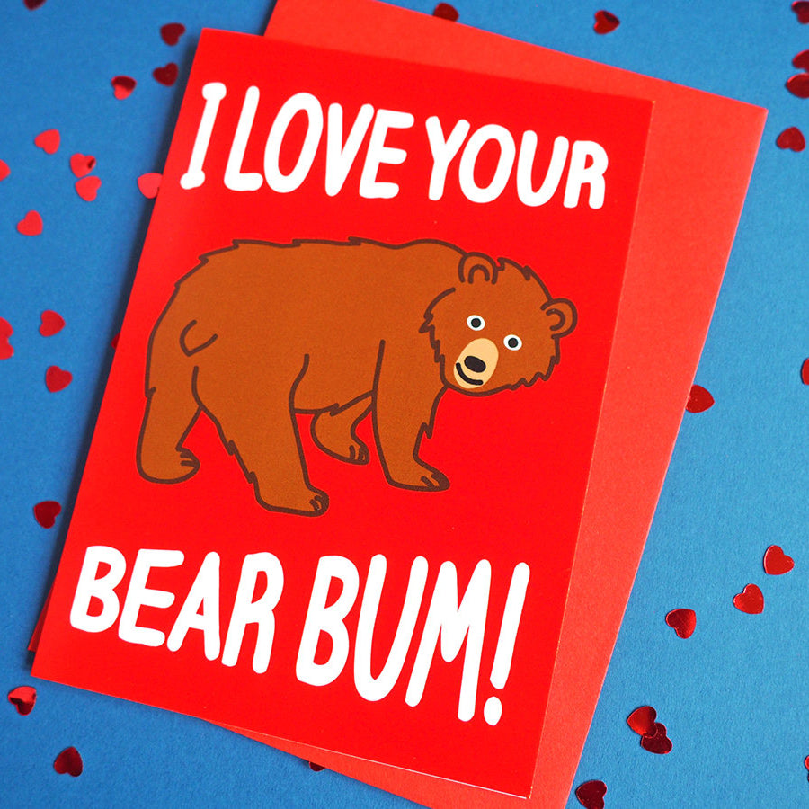 Bear Bum Valentine's Card - hello DODO