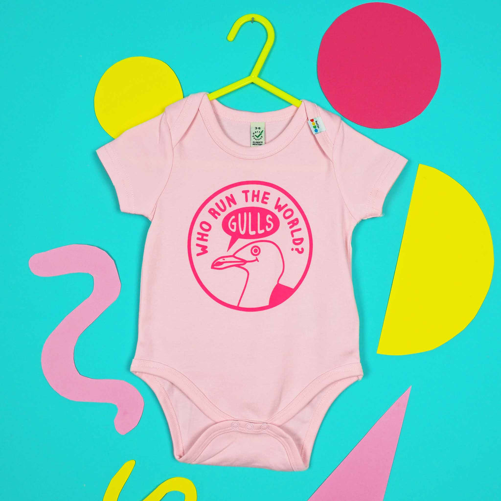 Who Run The World Gulls Babygrow - hello DODO
