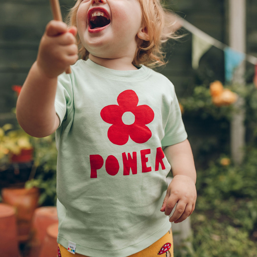 Flower Power Baby T-shirt - hello DODO