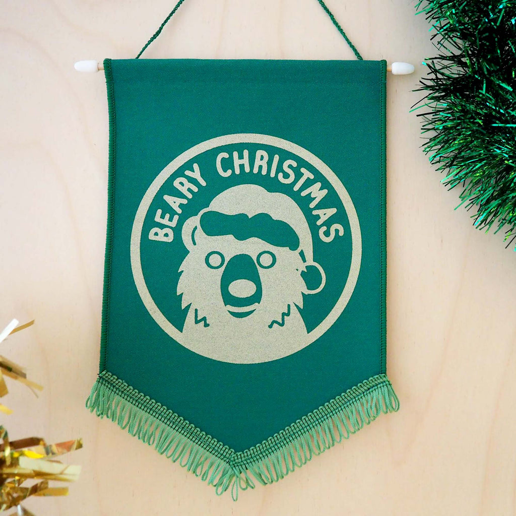 Beary Christmas Pennant Decoration