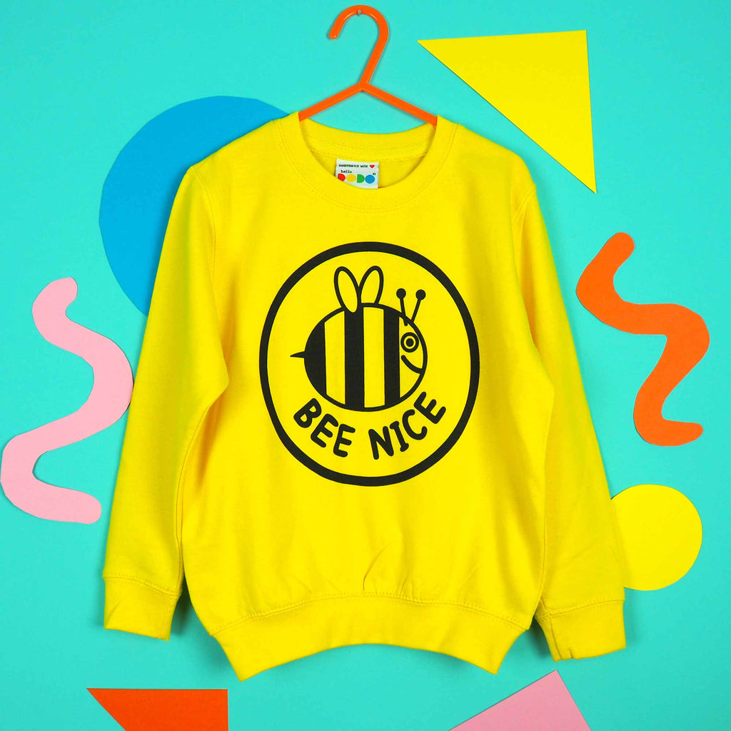Bee Nice Kids Sweatshirt - hello DODO