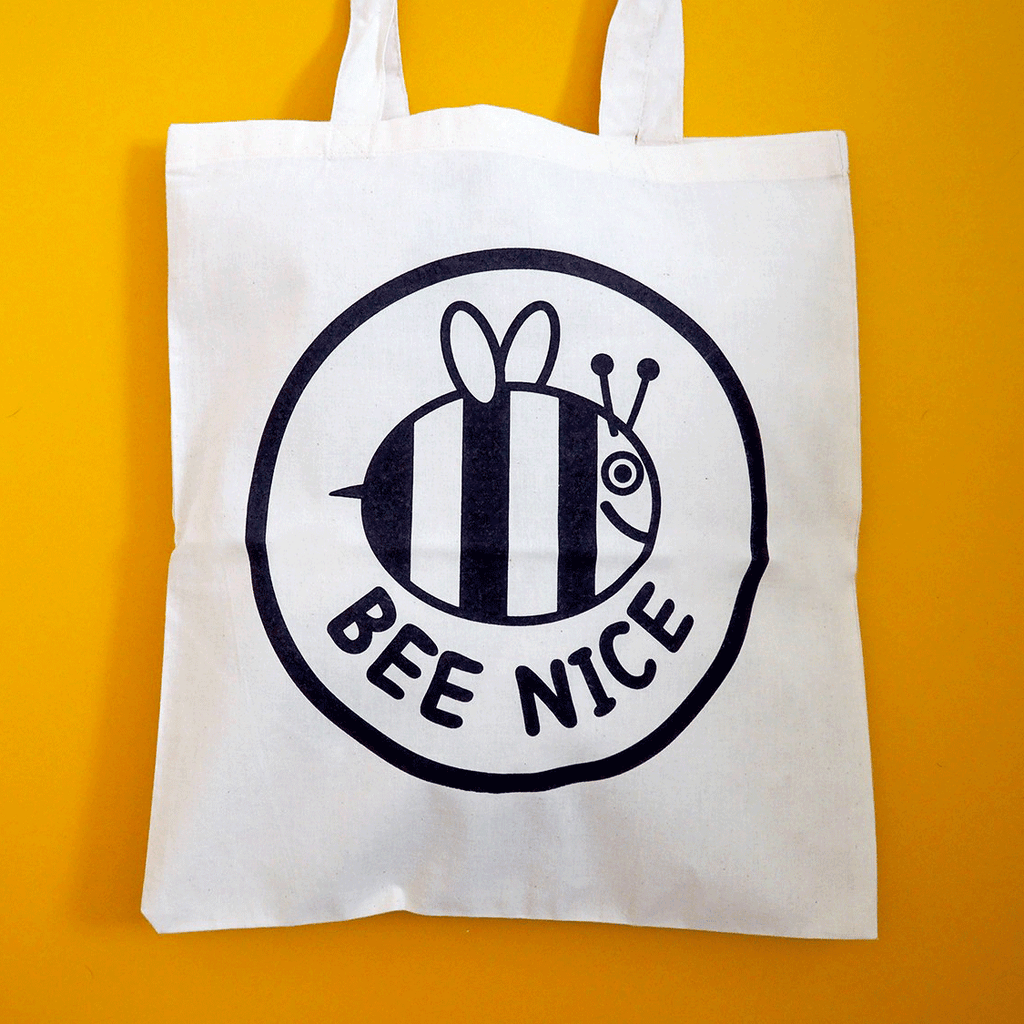 Bee Nice Tote Bag - hello DODO